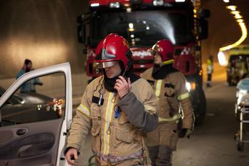 Brann i tunnell