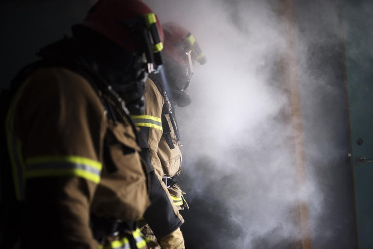 Røydykkere i arbeid