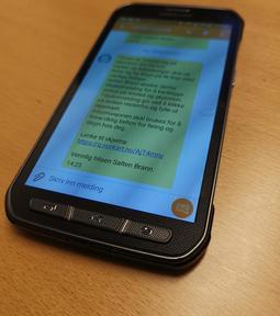sms på telefon